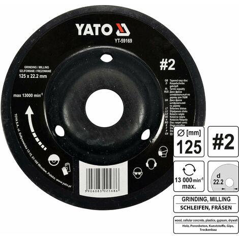 YATO Profi Raspelscheibe für Winkelschleifer 125mm Nr2 Konvex