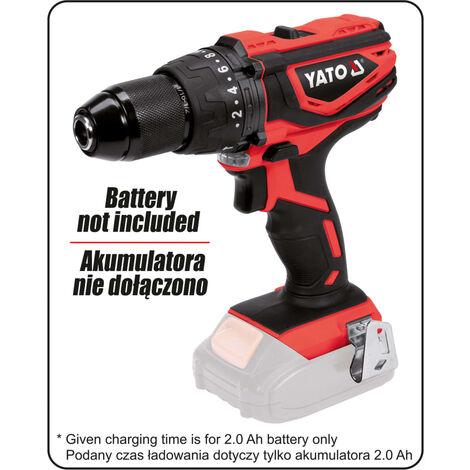 YATO Taladro de impacto sin batería 18V 40Nm