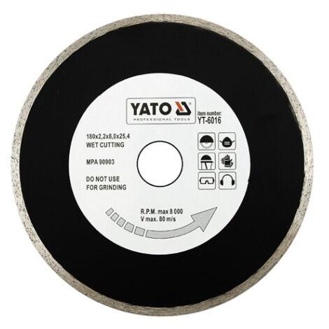Yato tile cutting diamond disc blade tile cutter 180 mm bore:25.4mm