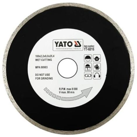Yato tile cutting diamond disc blade tile cutter 200 mm bore:25.4 mm