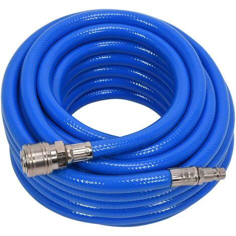 YATO Tuyau d'air avec raccord PVC 8 mm x 10 m Bleu