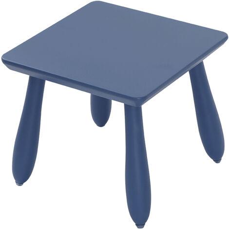 YCH1096-YE Tabouret enfant en bois massif, petit banc enfant, bleu