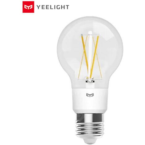 Yeelight 6W 700lm E27 LED inteligentes filamento Bombilla AC100-240V aplicacion de control de voz, compatible con HomeKit y Alexas y Mijia y de Pagina principal de Google