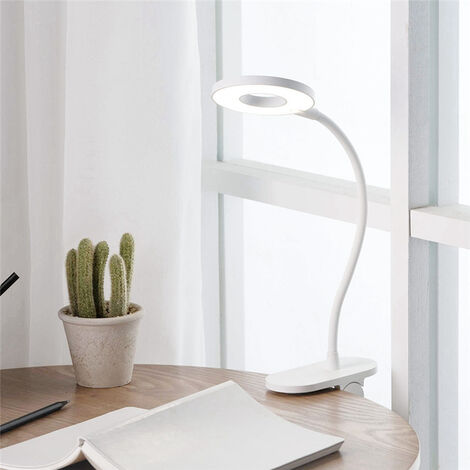 Yeelight Eye Protection Touch Dimmer 3 Modes Desk Table Reading Lamp Led Light Bed Clipsable Flexible Usb Rechargeable Learning Reading Work Camping