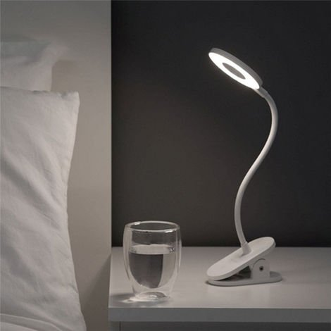 Yeelight Eye Protection Touch Dimmer 3 Modes Desk Table Reading Lamp Led Light Bed Clipsable Flexible Usb Rechargeable Learning Reading Work Camping Hasaki