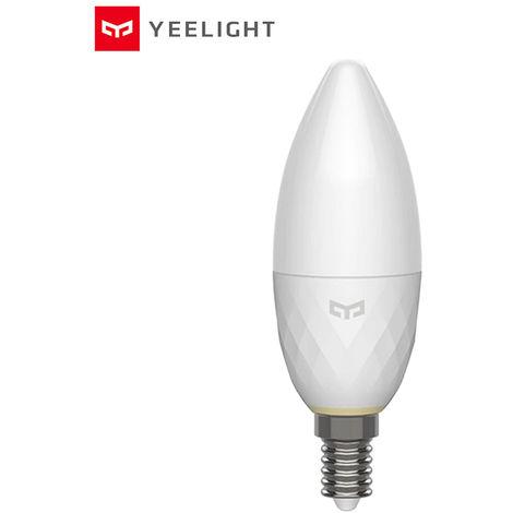 Yeelight inteligente vela de la lampara, CA 220V, E14, 3.5W, bulbo blanco