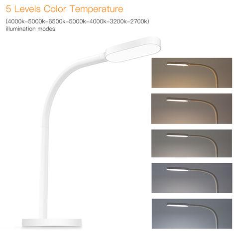 Yeelight, luz de la lampara de escritorio, tacto sensible, DC5V, 5W, 60 LED