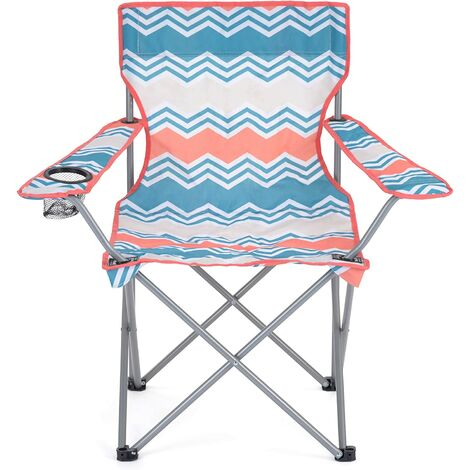 Yello Folding Camping Chair Zig Zag Print