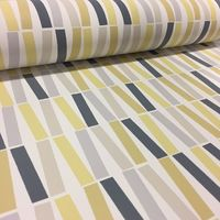 Yellow Navy Line Wallpaper Retro Bright Funky Lines PS Washable Feature Paper