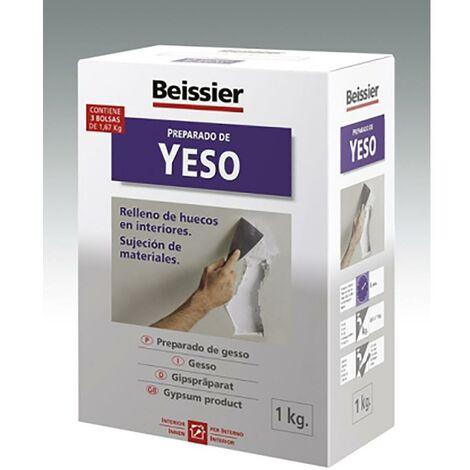 Yeso Restauracion Relleno Huecos Interiores Sujecion Materiales 1 Kg Blanco Beissier