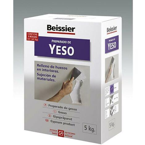 Yeso Restauracion Relleno Huecos Interiores Sujecion Materiales 5 Kg Blanco Beissier
