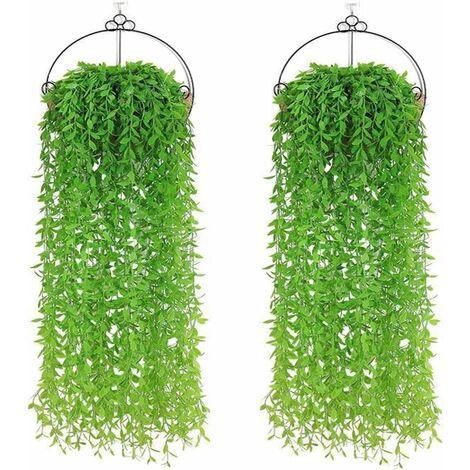 YHmall 10pcs Lierre Plante Artificielles Feuilles de Lierre Guirlande Artificielle pour Decoration Mariage Balcon Cuisine Jardin Bureau