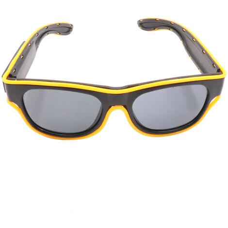 Yj011 Led Lentes 10 colores opcionales Luz USB de hasta El Fil de carga Partido Centella brilla Holiday Club Bar Glasses Decoratifs, Amarillo