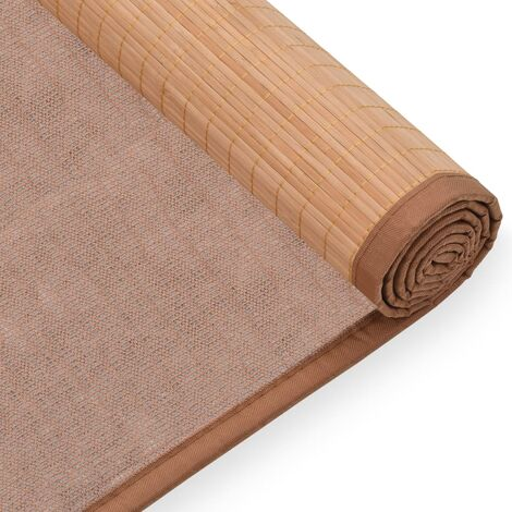 Yoga Mat Bamboo 60x180 cm Brown - 247213-UK