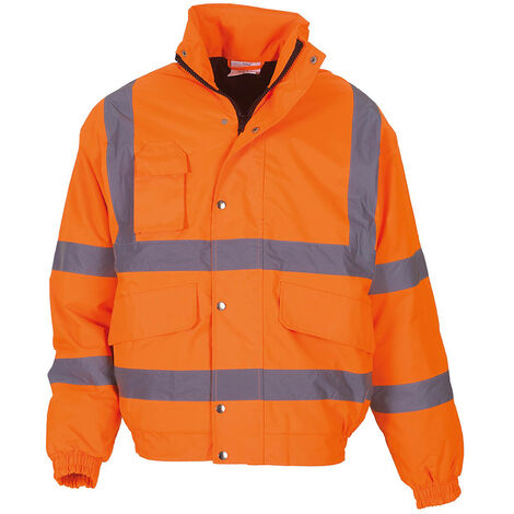 Yoko Mens Hi-Vis Bomber Jacket (Pack of 2)