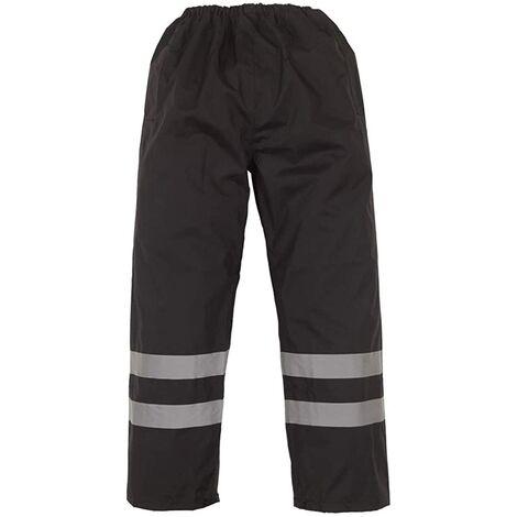 Yoko Mens Hi-Vis Waterproof Contractor Over Trousers (Pack of 2)