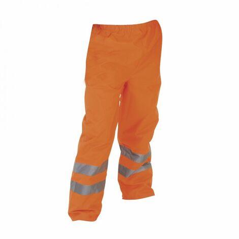 Yoko Mens Hi-Vis Waterproof Contractors Trousers / Pants (Pack of 2)