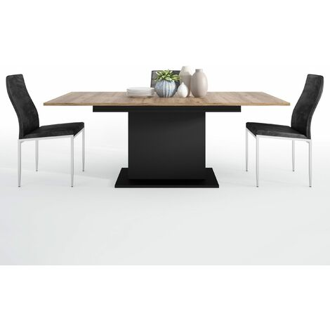 Yolo Dining set package Yolo Extending Dining Table + 6 Lillie High Back Chair Black Brown Wood