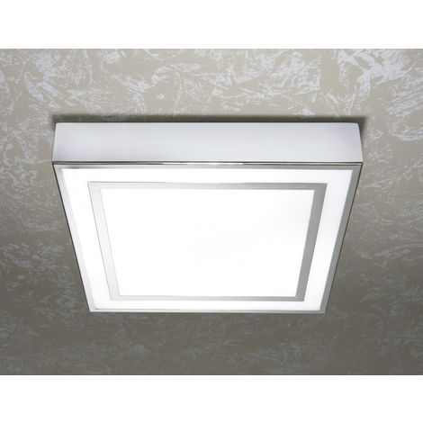 Yona Square Chrome Ceiling Light with Additional Chrome Detail