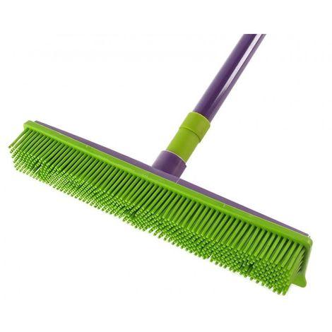 York broom rubber brush + telescopic stick