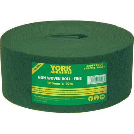York Schleif- und Reinigungsvlies XL-Rolle grün 100mm 10m mittel