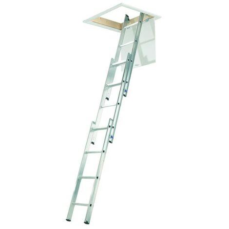 Youngman YOULOFTLADDER Aluminium 3 Section Loft Ladder 12 Rung - 3.00 Metre Maximum