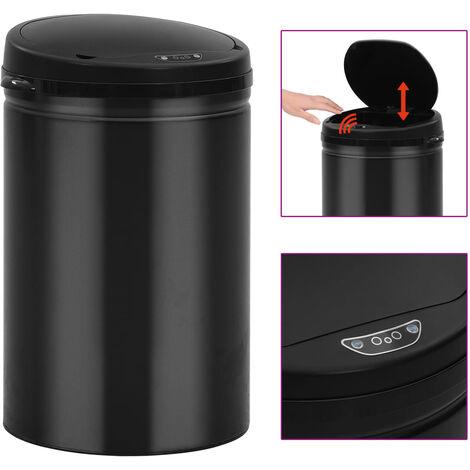 YOUTHUP Automatischer Sensor-Mülleimer 30 L Kohlenstoffstahl Schwarz