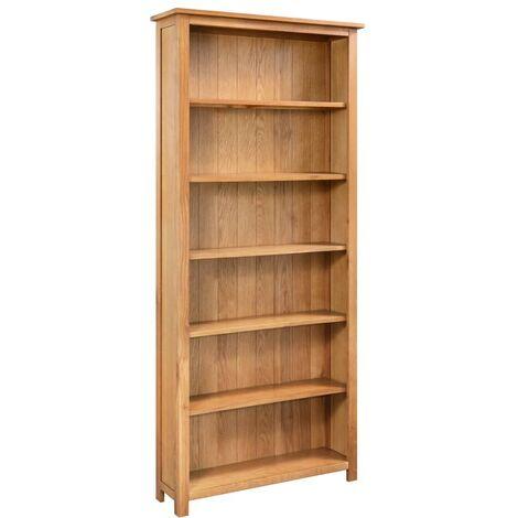 YOUTHUP Bücherregal 6 Fächer 80×22,5×170 cm Massivholz Eiche
