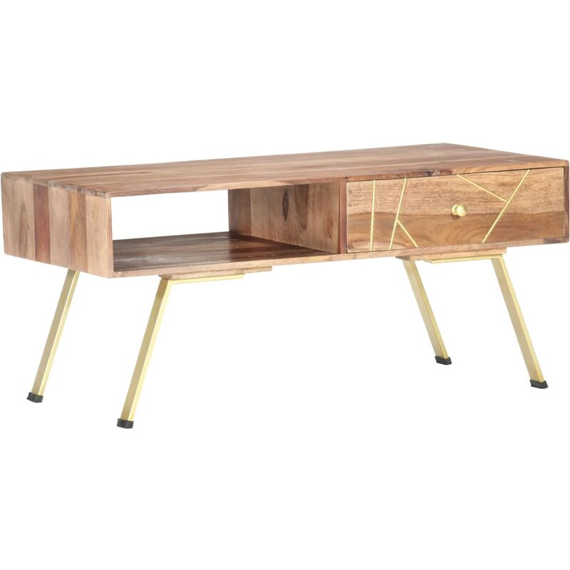 YOUTHUP Couchtisch 95×50×42 cm Massivholz Palisander