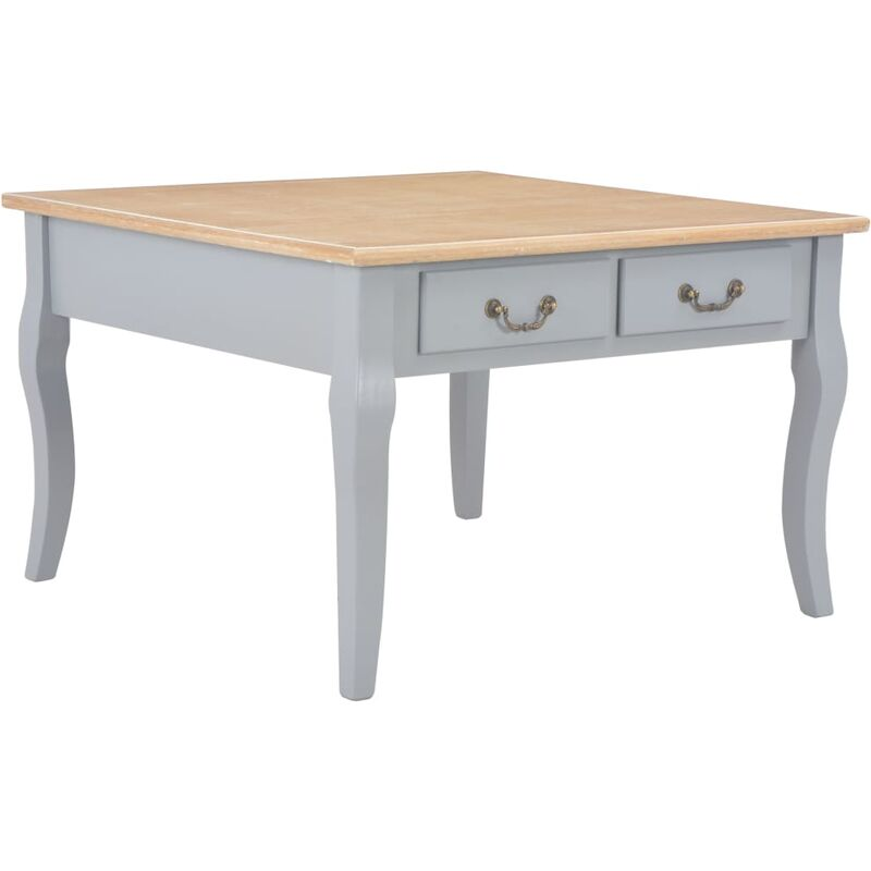Couchtisch Grau 80 x 80 x 50 cm Holz - Youthup