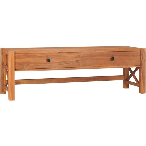 YOUTHUP Desk with 2 Drawers 140x40x45 cm Recycled Teak Wood