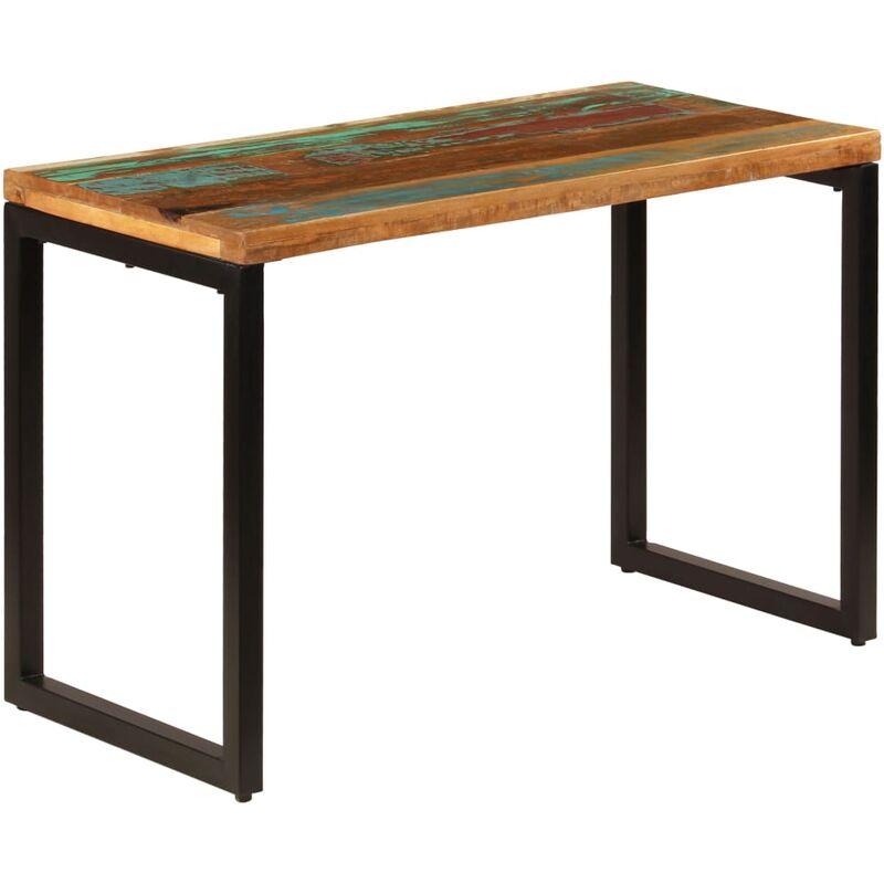 YOUTHUP Esstisch 115 x 55 x 76 cm Recyceltes Massivholz und Stahl