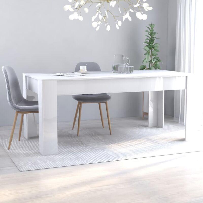 Esstisch Hochglanz-Weiß 180 x 90 x 76 cm Spanplatte - Youthup