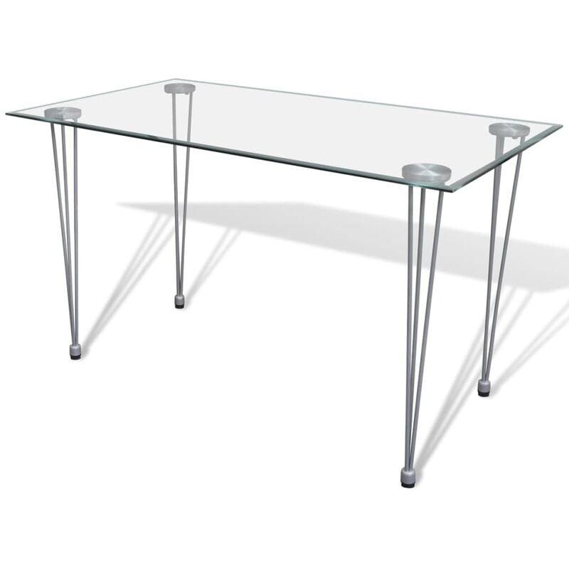 Esstisch mit Glasplatte Transparent - Youthup