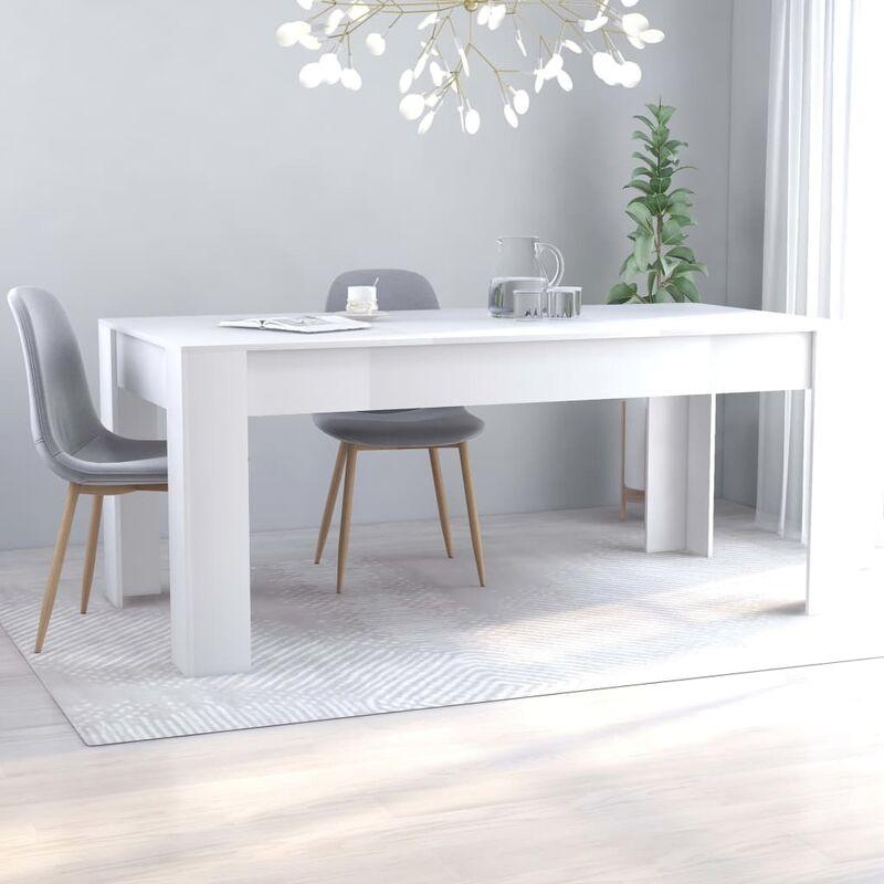 Esstisch Weiß 180×90×76 cm Spanplatte - Youthup