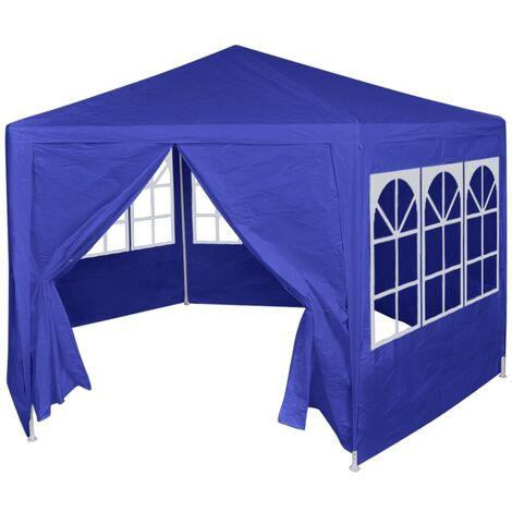 YOUTHUP Festzelt mit 6 Seitenwänden Blau 2x2 m