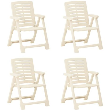 YOUTHUP Garden Chairs 4 pcs Plastic White
