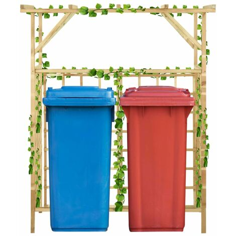 YOUTHUP Garden Pergola for Double Bins Impregnated Pinewood