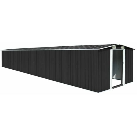 YOUTHUP Garden Shed Anthracite 257x779x181 cm Galvanised steel