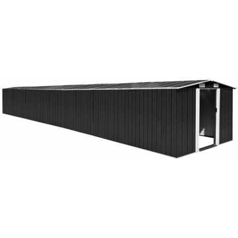 YOUTHUP Garden Shed Anthracite 257x990x181 cm Galvanised steel