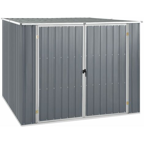 YOUTHUP Garden Shed Grey 195x198x159 cm Galvanised Steel