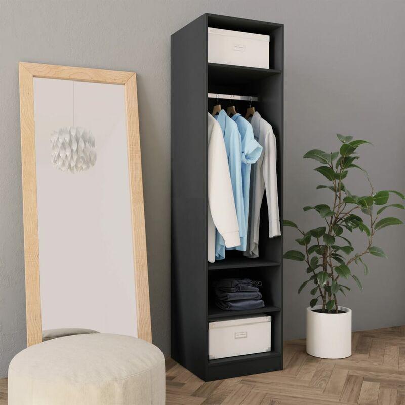 Kleiderschrank Grau 50×50×200 cm Spanplatte - Youthup