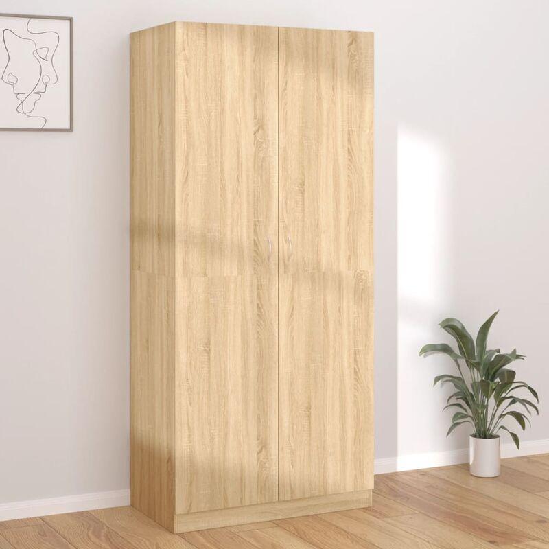 Kleiderschrank Sonoma-Eiche 90×52×200 cm Spanplatte - Youthup