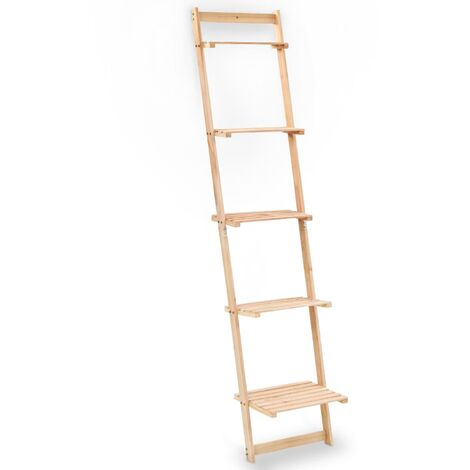 YOUTHUP Leiter-Wandregal aus Zedernholz 41,5x30x176 cm