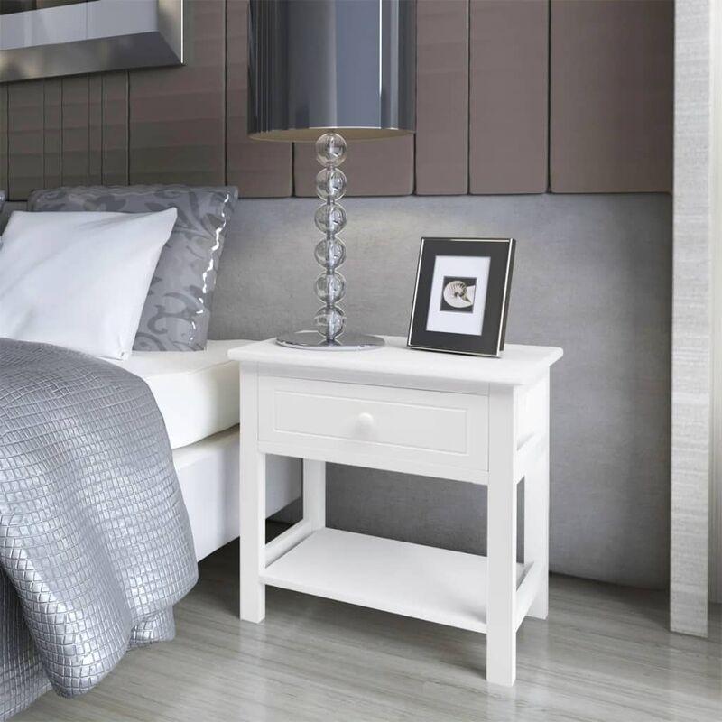 YOUTHUP Nachttisch Holz 2 Stk. Weiß