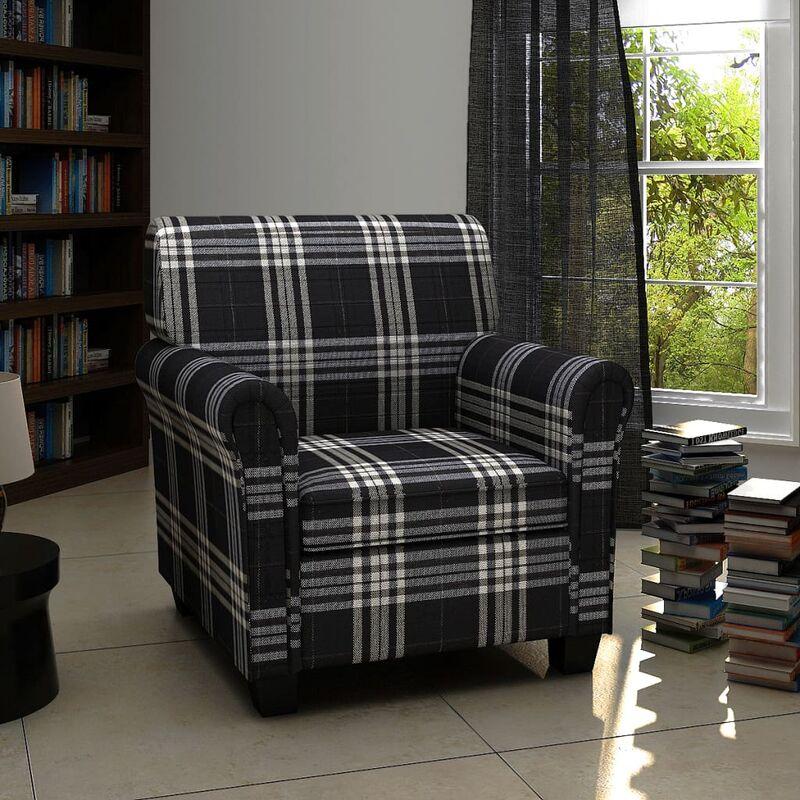 Sessel mit Sitzpolster Schwarz Stoff - Youthup