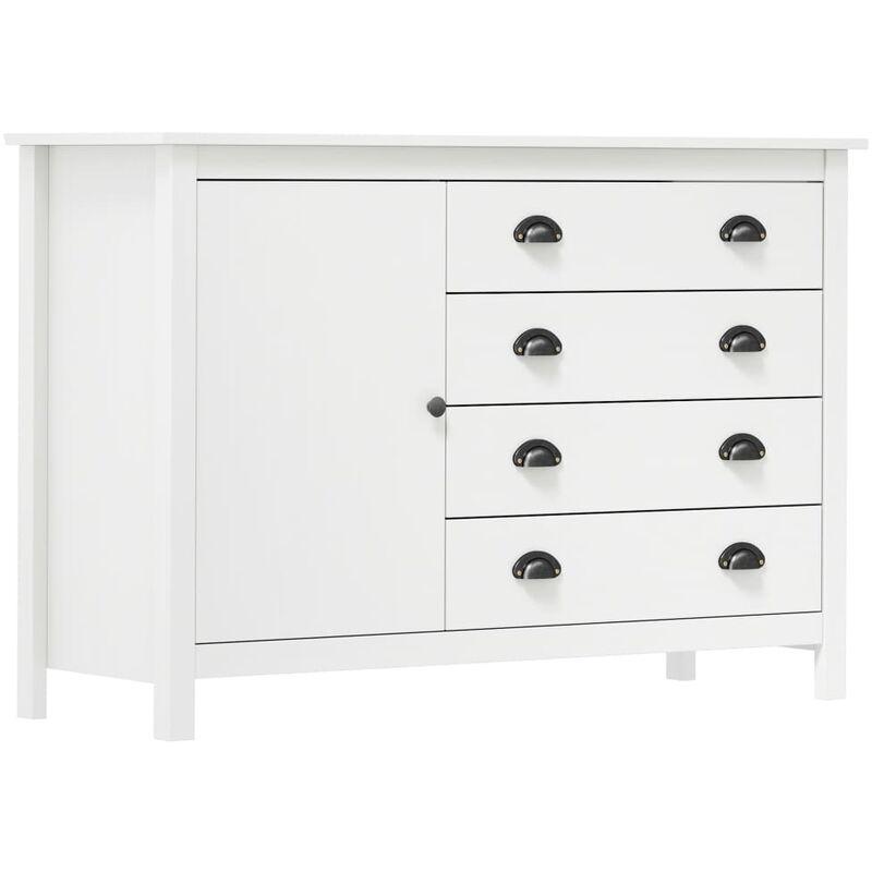 Sideboard Hill Range Weiß 120x40x80 cm Massivholz Kiefer - Youthup