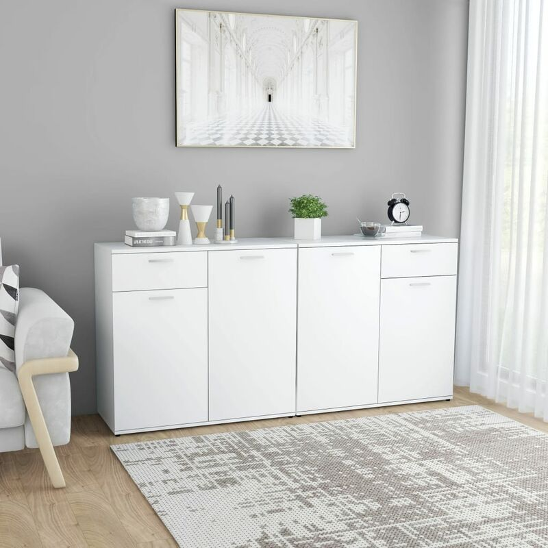 YOUTHUP Sideboard Weiß 160×36×75 cm Spanplatte