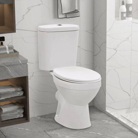 YOUTHUP Stand-WC mit Spülkasten und Soft-Close-Sitz Keramik Weiß