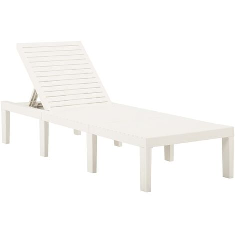 YOUTHUP Sun Lounger Plastic White